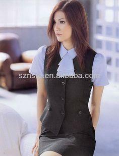 Summer fashional women office uniform (Suit vest + skirt) $20~$50