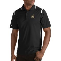 Antigua Men's Charlotte Merit Xtra-Lite Black Polo, Size: Medium, Multi