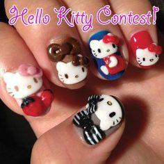 Nail TRENDS: Nail Art Hello Kitty Contest.