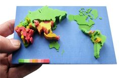 Applying 3D printing to geography applications and statistics