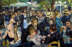 Pierre-August Renoir, Moulin de la Galette, 1876. Carmen Pinedo Herrero: Nuestra cita en París: Konstantin Korovin
