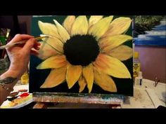 How to paint a Sunflower with acrylic paint lesson 3, step by step - YouTube