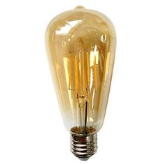 Replace a 60 watt incandescent bulb with this comparable energy-efficient 8.5 watt amber LED Edison bulb.