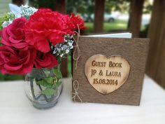 Rustic Wedding Guest Book  Wedding Book  Bridal by TheSmilinBride, $39.95