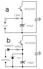 Reverse biased transistor LED Flasher