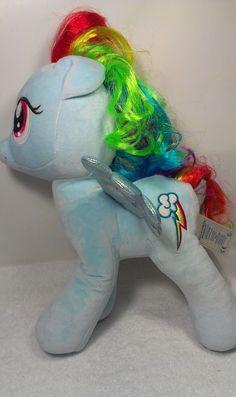 "Build A Bear RAINBOW DASH My Little Pony Stuffed Plush Blue Horse Pegasus 15""  #a"