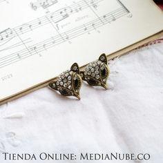 $16000 Aretes zorros brillantes | Media Nube - http://medianube.monomi.co/products/aretes-zorros-brillantes/