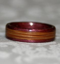 Custom+Wooden+Wedding+Band+or+Ring+with+Inlay+Bent+by+MnMWoodworks,+$105.00