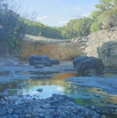 David Caton, Dry Creek, Botkin ranch, oil on canvas, <br />48 x 48 inches