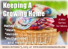 Growing Home : Keeping a Growing Home   A Management Series for Moms (Pt. 1)  {includes links to the whole series}