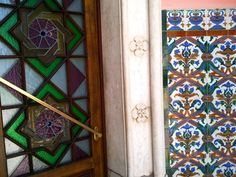 I found lots to do & see in the Faro in the Algarve; Stained Glass Door, Algarve, Mosaic Glass, Cool Places To Visit, Gates, Exploring, The Good Place, Entrance, Windows