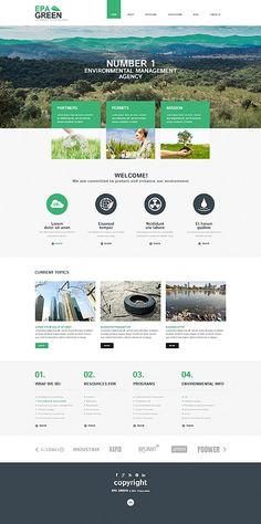 Template 52293 - Epa Green  Responsive WordPress  Theme