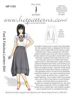HP 1151 Fast & Fabulous Lantern Skirt - HotPatterns.com