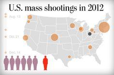 U.S. mass shootings in 2012