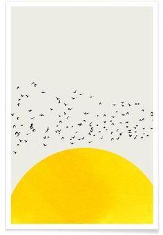A Thousand Birds - Kubistika - Premium Poster