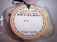 Halloween Favor Tags  Halloween Tags nutter butter ghosts by kidEprints, $5.99