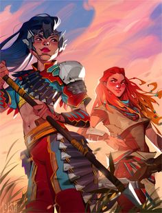 Illustrations, Illustration Artists, Horizon Zero Dawn Aloy, Character Art, Character Design, Loish, Fanart, New Earth, Disney Girls