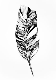 """""""Feather"""" by Adelle Rae -- http://society6.com/product/Lucidity-Vnv_Print?tag=black-white"""
