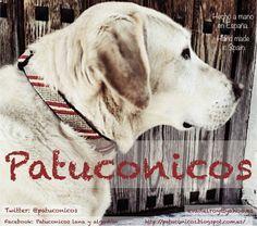 Collar de perro Patuconicos hecho a mano con nudos de macramé