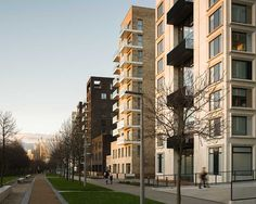 Greenwich Peninsula Riverside housing in London by C.F. Møller Architects