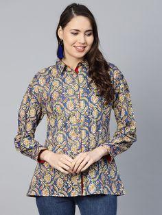 Indian Kurtis Girl/'s Women\u2019s Tunics with jacket Jacket Shell tunics Trendy Tunics Short Kurtis Ikat Tops Cotton Tunics