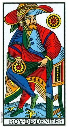 King of Coins - Tarot de Marseille, Camoin-Jodorowsky (1997)