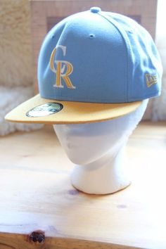 Colorado Rockies 59Fifty 7 3 8 Yellow and Light Blue Hat  ColoradoRockies  Colorado Rockies 5ad168d39d17
