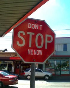 Don't Stop Me Now | 15 Revised Stop Signs