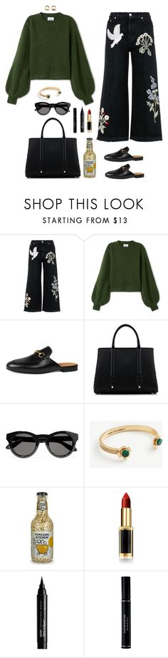 """Nov 1st"" by xoxomuty ❤ liked on Polyvore featuring Alexander McQueen, Gucci, La Perla, Givenchy, Ann Taylor, L'Oréal Paris, NYX, Christian Dior, MANGO and ootd"