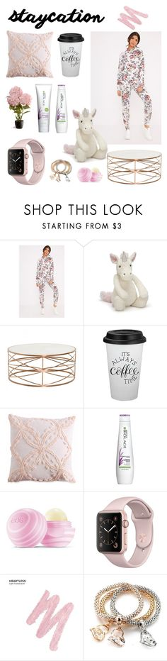 """Stay home, coffee is the best ;)"" by lucieschramek ❤ liked on Polyvore featuring Jellycat, Peri, Matrix Biolage, Eos, Urban Decay and National Tree Company"