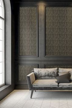 Black Panel Living Room - 17 Interiors That Will Make You Fall in Love With Panelled Walls -