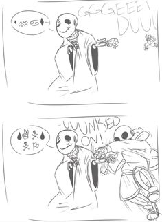 """Undertale Gaster and Sans """"what"""" """"SANS NO"""" I learnt how to fluently write in wingding so I could read that."""