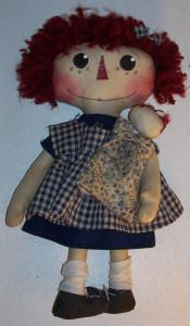 Lillie Mae's Crafts free primitive doll sewing pattern