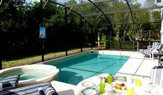 Pool, spa & alfresco dining at Award Winning 'Jacksonvilla', Glenbrook, Orlando ID 615| Direct Villas Florida