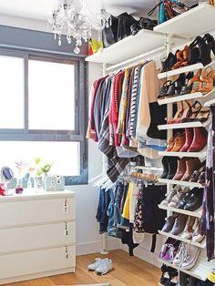Soluciones para organizar zapatos y bolsos