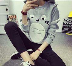 My Gray Totoro Cardigan