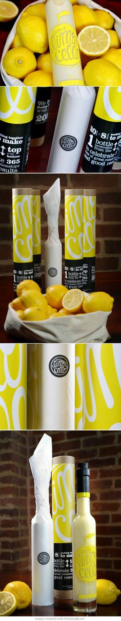 Victoria Mamto I came across this extended pin this morning. Crema di Limoncello Self-Promotional Gift PD Cool Packaging, Beer Packaging, Beverage Packaging, Brand Packaging, Packaging Design, Branding Design, Packaging Ideas, Food Design, Creative Design
