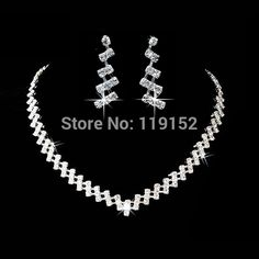 Hot Selling Wedding Jewelry Sets Crystal Bridal Gifts Choker Necklace Earrings Set Wedding Jewelry #Affiliate