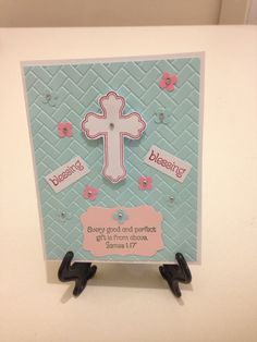 Stampin Up, holy card!