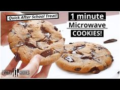 1 Minute Microwave CHOCOLATE CHIP COOKIE ! The EASIEST Chocolate Chip Cookies Recipe - YouTube
