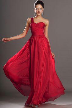1ccfab1aeee2 Sexi červené šifónové šaty S00106 - hlavná fotka Skromné Svadobné Šaty