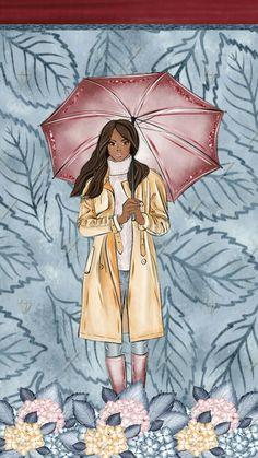 Cellphone Wallpaper, Iphone Wallpaper, Desktop Backgrounds, Fashion Illustration Chanel, Watch Drawing, Arte Black, Black Women Art, Winter Snow, Happy Planner
