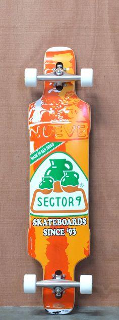 """Sector 9 42"""" Dropper Orange Longboard Complete"""