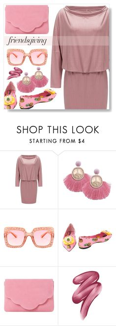 """""""Friendsgiving"""" by simona-altobelli ❤ liked on Polyvore featuring Dolce&Gabbana, Dune and Clinique"""