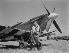 Canadian pilot Sid Bregman and his Supermarine Spitfire Mk.IX in Normandy  Read more: http://histomil.com/viewtopic.php?f=338&t=3918&start=5290#ixzz3b4dqWQyL