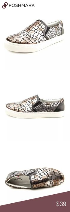 Luichiny Fashion Sneaker Pewter Print! NIB Luichiny Vay Kay Sneakers. Silver/pewter colored. Rounded toe. One inch sole height. New in box! Many sizes available!! Live pics coming soon! Luichiny Shoes Sneakers