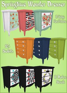 Sims 4 CC's - The Best: Springtime Wonder Dresser by Cactus Sims