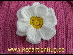 ▶ Häkeln - Häkelblume Margerite flach - YouTube Crochet Squares, Crochet Motif, Diy Crochet, Crochet Flowers, Crochet Stitches, Crochet Patterns, Crochet Hats, Dorset Buttons, Pattern Library
