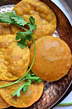 Sweet Potato Masala Puri - An Indian fried Bread with sweet potato in the dough, makes this famous delicacy even more special.