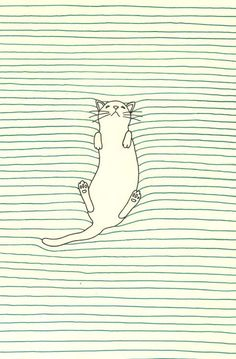art and illustration cat sleeping drawing Art And Illustration, Cat Illustrations, Art Design, Graphic Design, Inspiration Art, Art Graphique, Cat Drawing, Drawing Ideas, Line Drawing